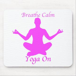 Yoga BreatheCalmYogaOn Mousepad