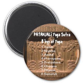 YOGA Checkliste: 8 Schritte von PATANJALI SUTRA Runder Magnet 5,7 Cm