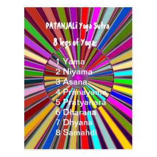 YOGA Checkliste: 8 Schritte von PATANJALI SUTRA Postkarte