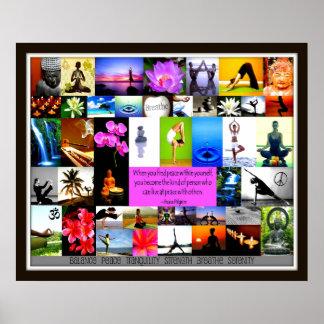 Yoga-Collage Plakat
