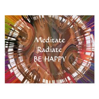 Yoga Darshan: Meditieren Sie, strahlen Sie aus, Postkarte