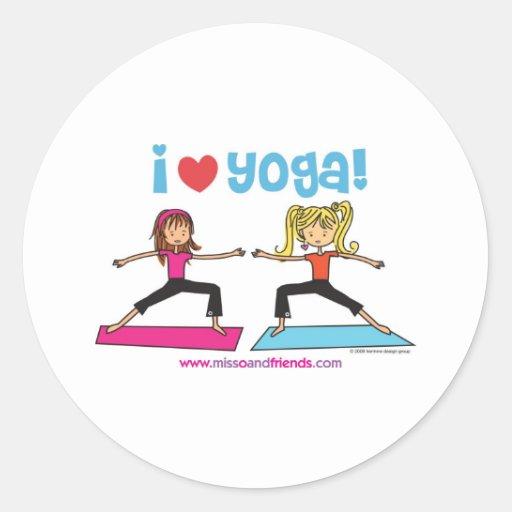 Yoga der Liebe I Stickers