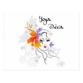 Yoga-Diva-Geschenk Postkarten