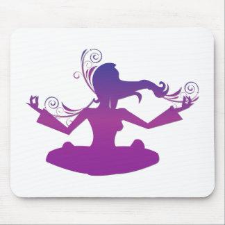 Yoga-Entwurf/Posen 2 Mousepad
