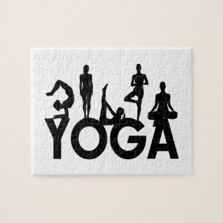 Yoga-Frauen-Silhouetten Puzzle