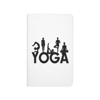 Yoga-Frauen-Silhouetten Taschennotizbuch