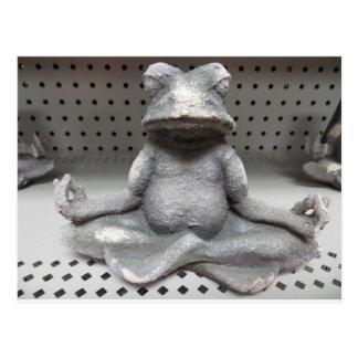 Yoga-Frosch Postkarte