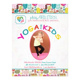 Yoga für Arten-buntes Blumen Personalisierte Flyer