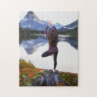 Yoga-Gebirgspuzzlespiel Puzzle