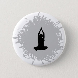 Yoga-Gekritzel-Art Runder Button 5,7 Cm