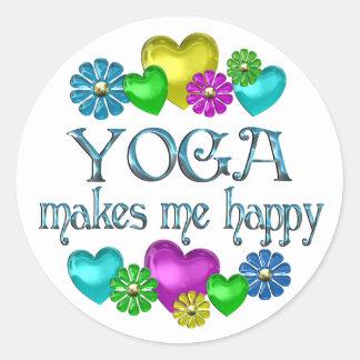 Yoga-Glück Runder Aufkleber