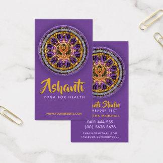 Yoga-Göttinmandala-aquamarine Geschäfts-Karte Visitenkarte