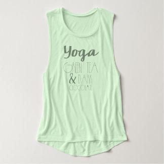 Yoga, grüner Tee u. Flowy Muskel Tank Top