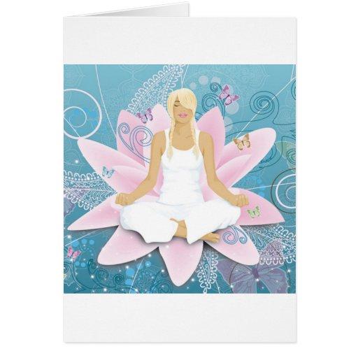 Yoga Grußkarte