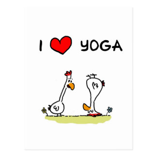 Yoga-Hühner Postkarten