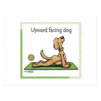 Yoga-Hund - aufwärts Einfassungs-HundePose Postkarten