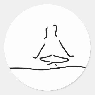yoga joga meditation runder aufkleber