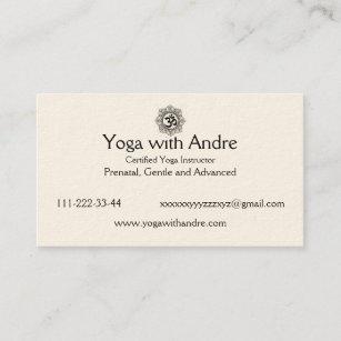 Yoga Om Visitenkarten Zazzle De
