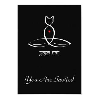 Yoga-Katze - Sanskrit Arttext Karte