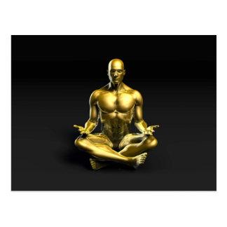Yoga-Klasse als Form des Entspannung Postkarte
