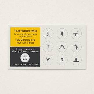 Yoga-Klassen-Visitenkarteloyalitätskarte Visitenkarten