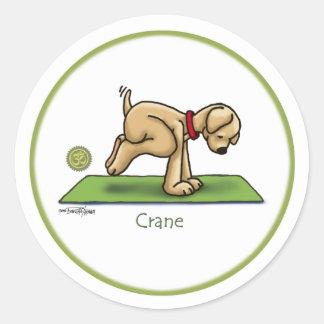 Yoga - Kran Runder Aufkleber