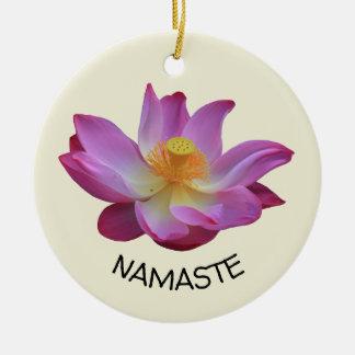 Yoga-Kreis Lotuss Namaste Keramik Ornament