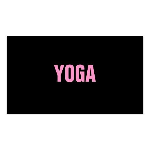 YOGA Lehrer-einfache u. einfache Visitenkarte
