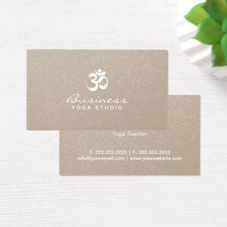 Yoga-Lehrer-elegantes Sahneblumen Visitenkarte