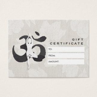 YOGA Lehrer-Geschenkgutschein-elegantes OM-Symbol Visitenkarte