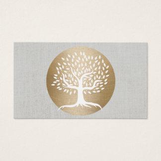 Yoga-Lehrer-Goldkreis u. heilende Baum-Fitness Visitenkarte