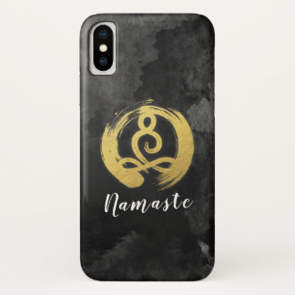 Yoga-Lehrer-Goldmeditations-Lage-Zen-Symbol iPhone X Hülle