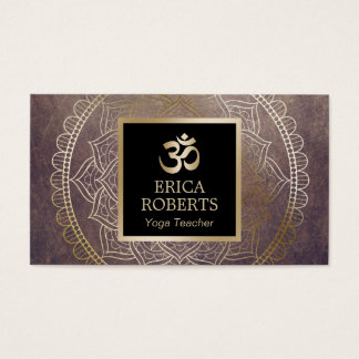 Yoga-Lehrer-Goldom-SymbolVintager Mandala Visitenkarten