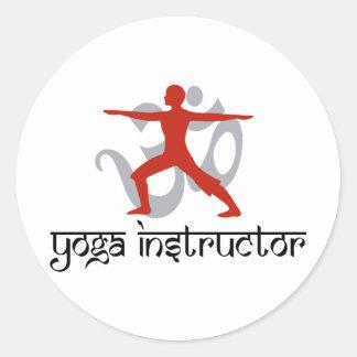 Yoga-Lehrer Runde Aufkleber