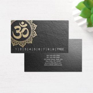 YOGA Lehrer-schicke schwarze Visitenkarte