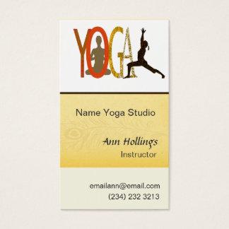 Yoga-Lehrer u. Trainer Visitenkarte