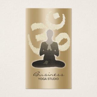 Yoga-Lehrer-Vintages Goldom-Symbol Namaste Visitenkarte