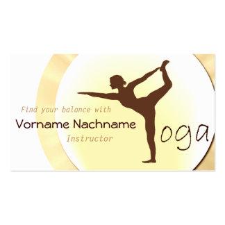 Yoga-Lehrer-Visitenkarte