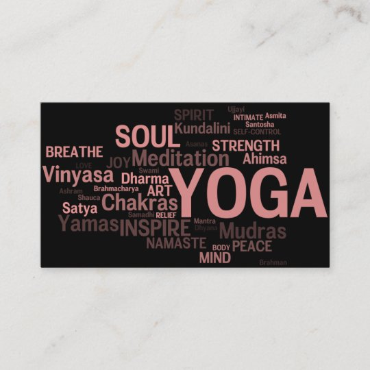 Yoga Lehrer Visitenkarte Yoga Wörter Visitenkarte Zazzle De