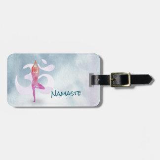 YOGA Lehrerwatercolor-Meditations-Pose OM Gepäckanhänger
