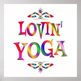 Yoga-Liebhaber Poster