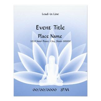 Yoga-Lotos-blauer kleiner Ereignis-Flyer