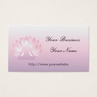 Yoga-Lotus-Visitenkarte Visitenkarten