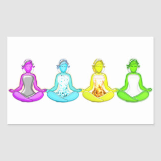 Yoga-Mädchen Rechteckiger Aufkleber