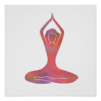 Yoga-Mädchen Poster