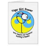 Yoga-Mädchen-Power-Logo Grußkarte