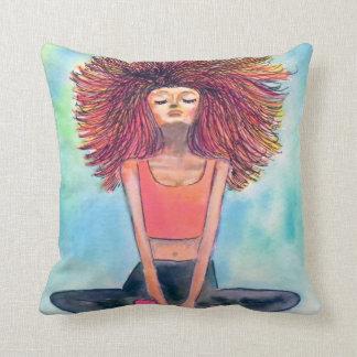 Yoga-Mädchen-Ruhe-Kunst-Kissen Kissen