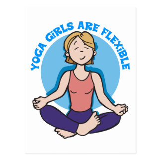 Yoga-Mädchen sind flexibles Yoga Postkarte