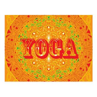 Yoga-Mandala-Entwurf Postkarte