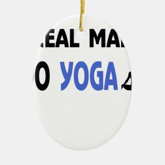 YOGA-MANN-Fitness Keramik Ornament